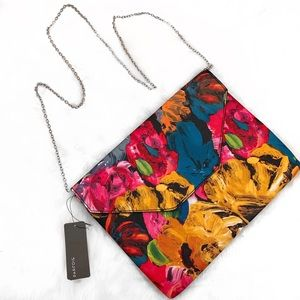 Parfois • Floral Watercolor Envelope Bag